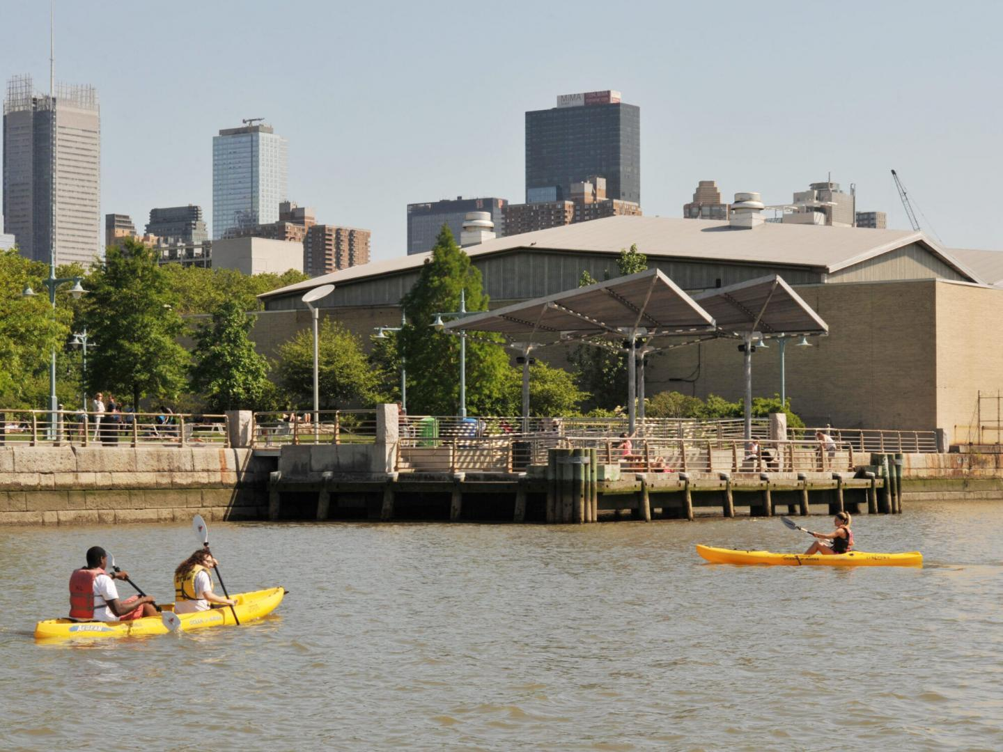 Kayakers by Pier 95