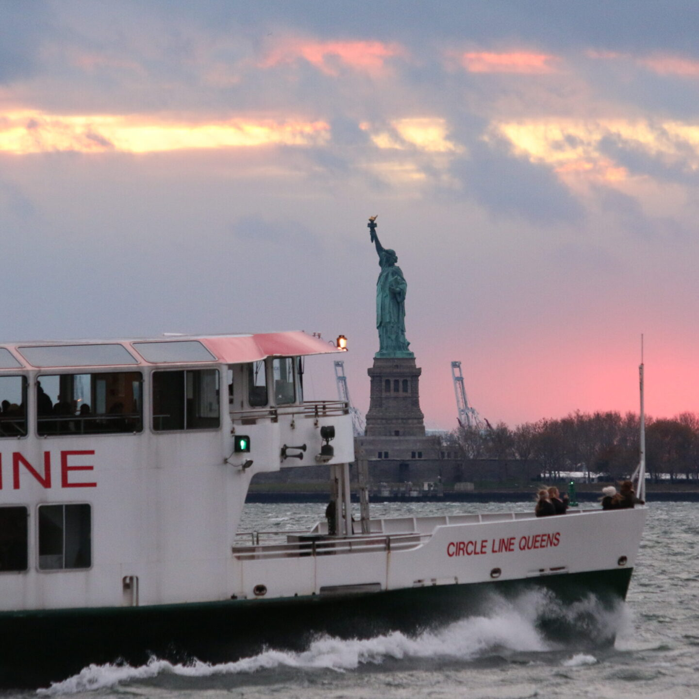 Circleline Cruises by the statue of liberty