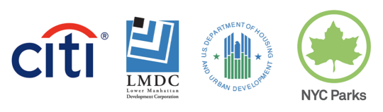 Citi, LMDC-HUD and NYC Parks logos