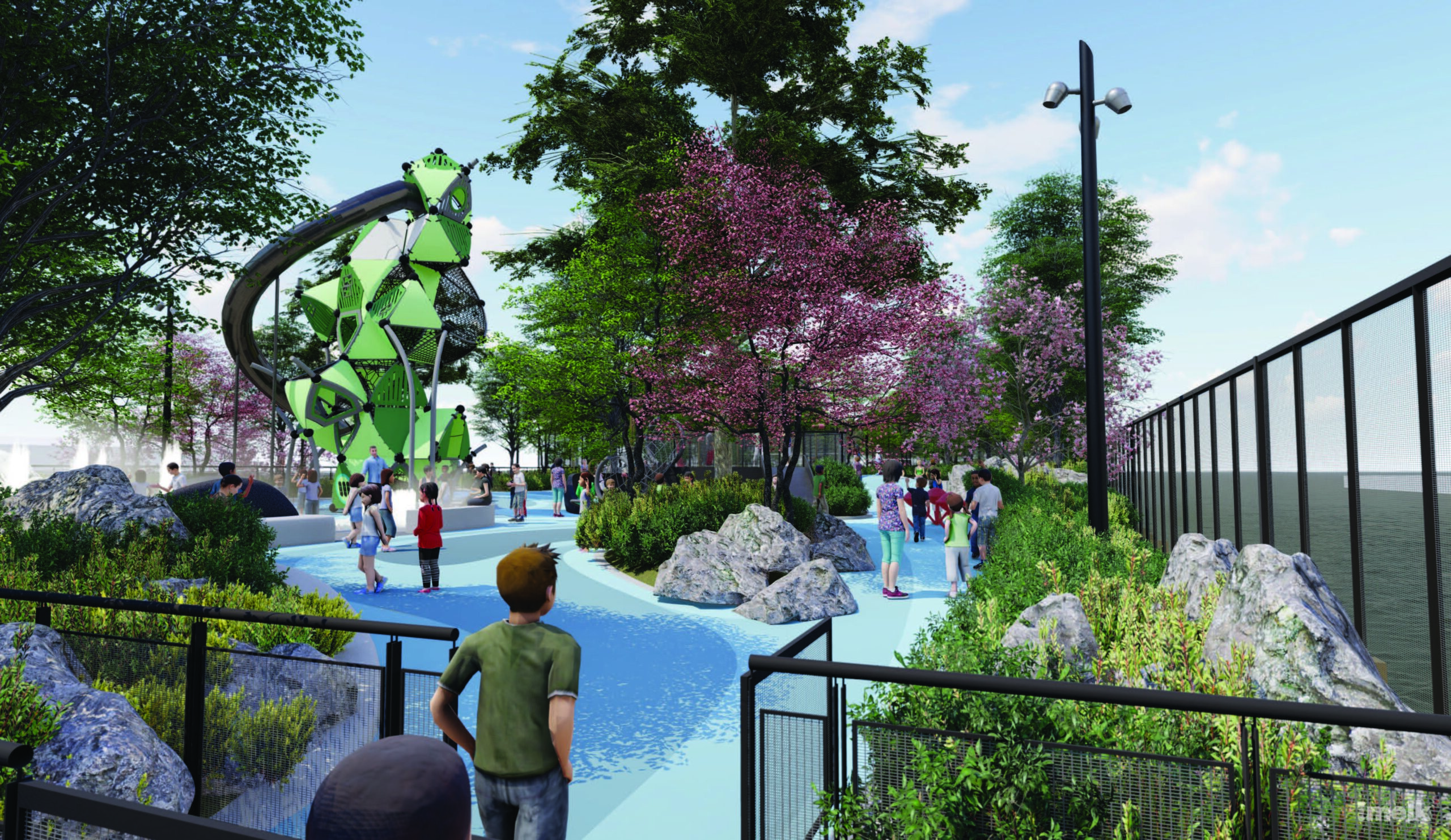 Pier 97 rendering of children's playground