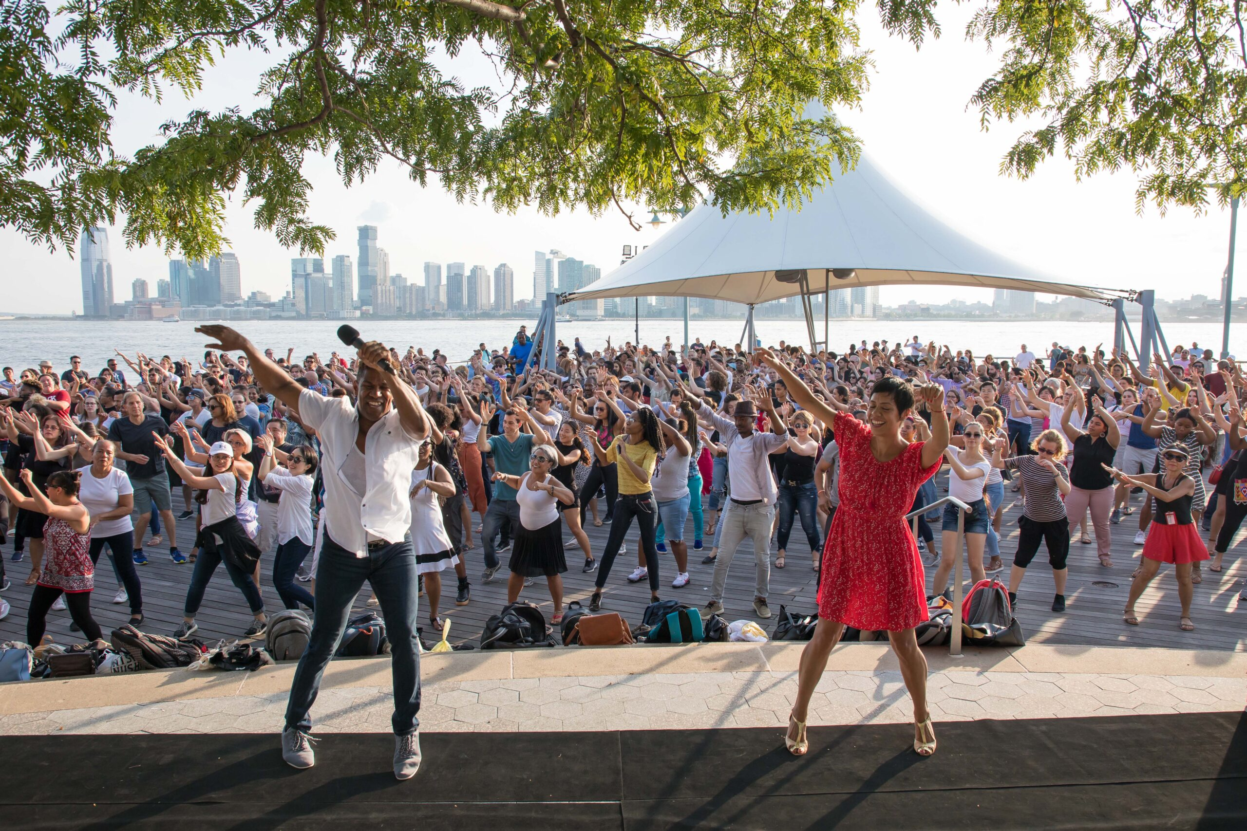 Talia brings down the house during Hudson River Park's Sunset Salsa with Talia