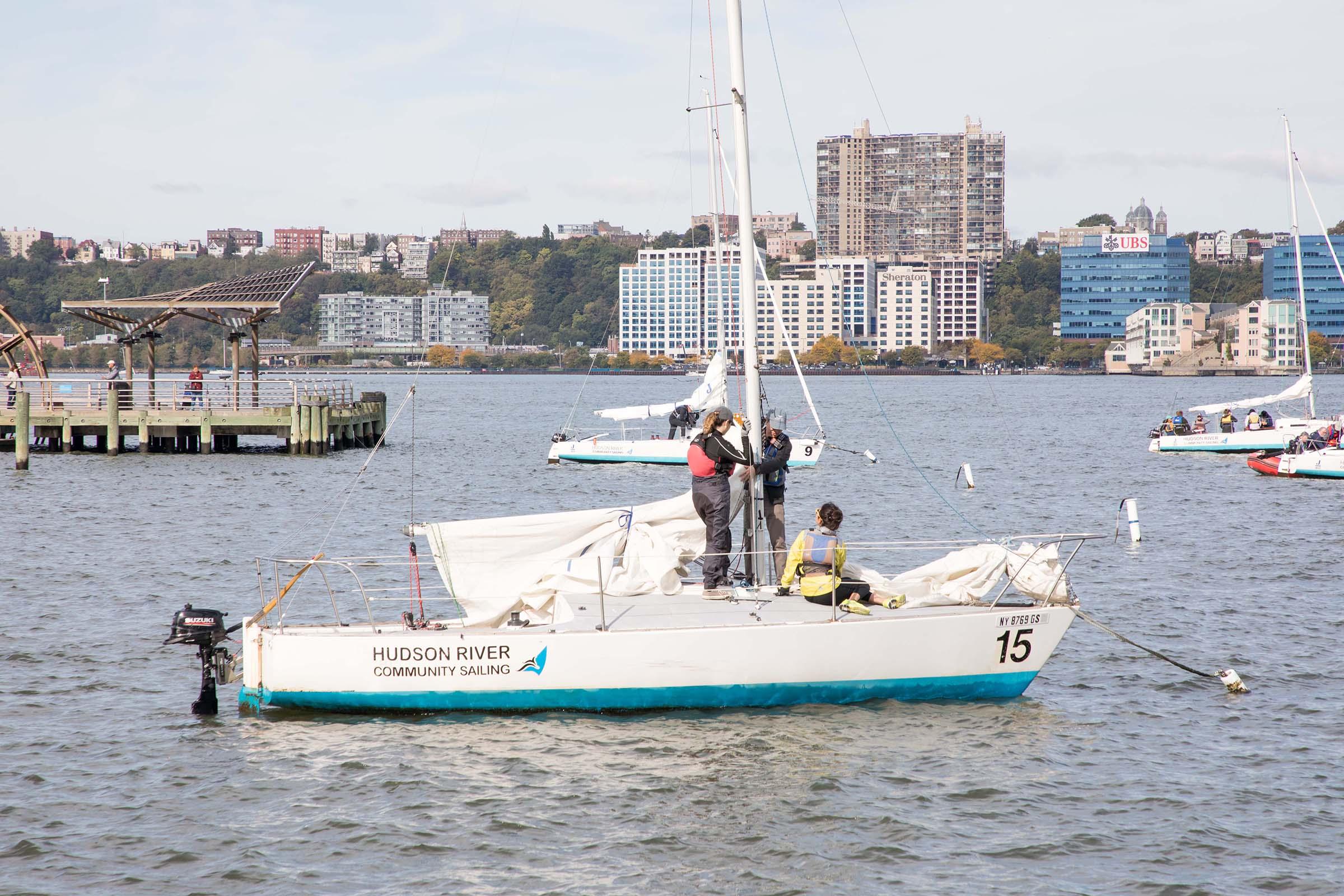 Sailing with the Hudson River Community Sailing program near Pier 66