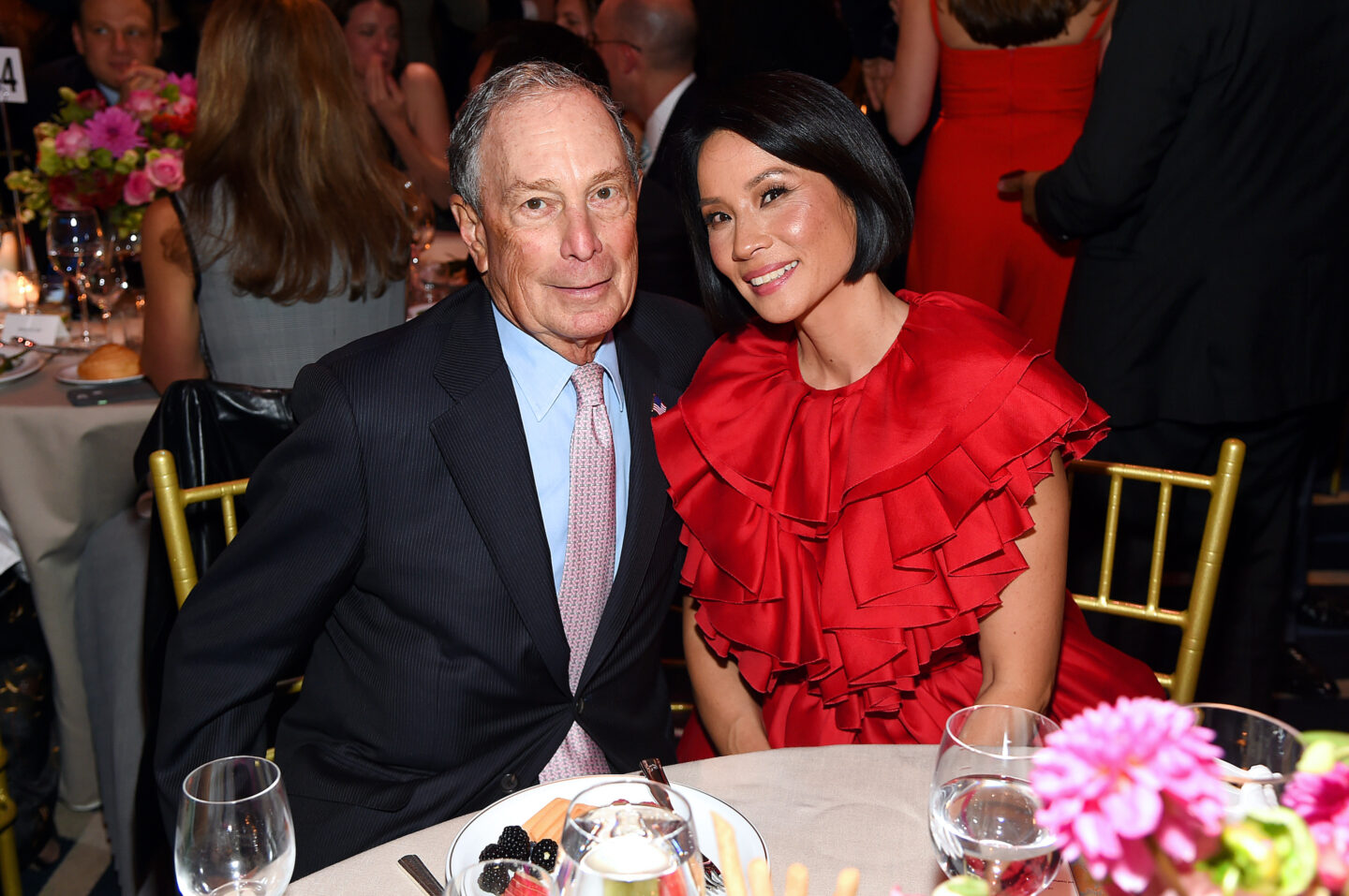 Michael Bloomberg and Lucy Lui