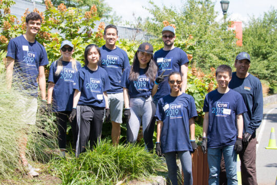 A group of Citi Volunteers helping the Park's gardens