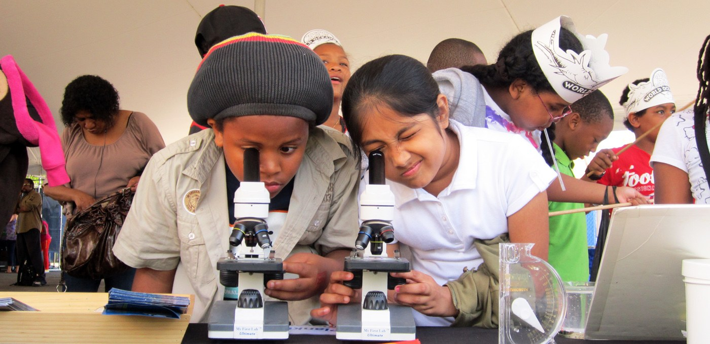 Students enjoy learning about the science and nature in Hudson River Park