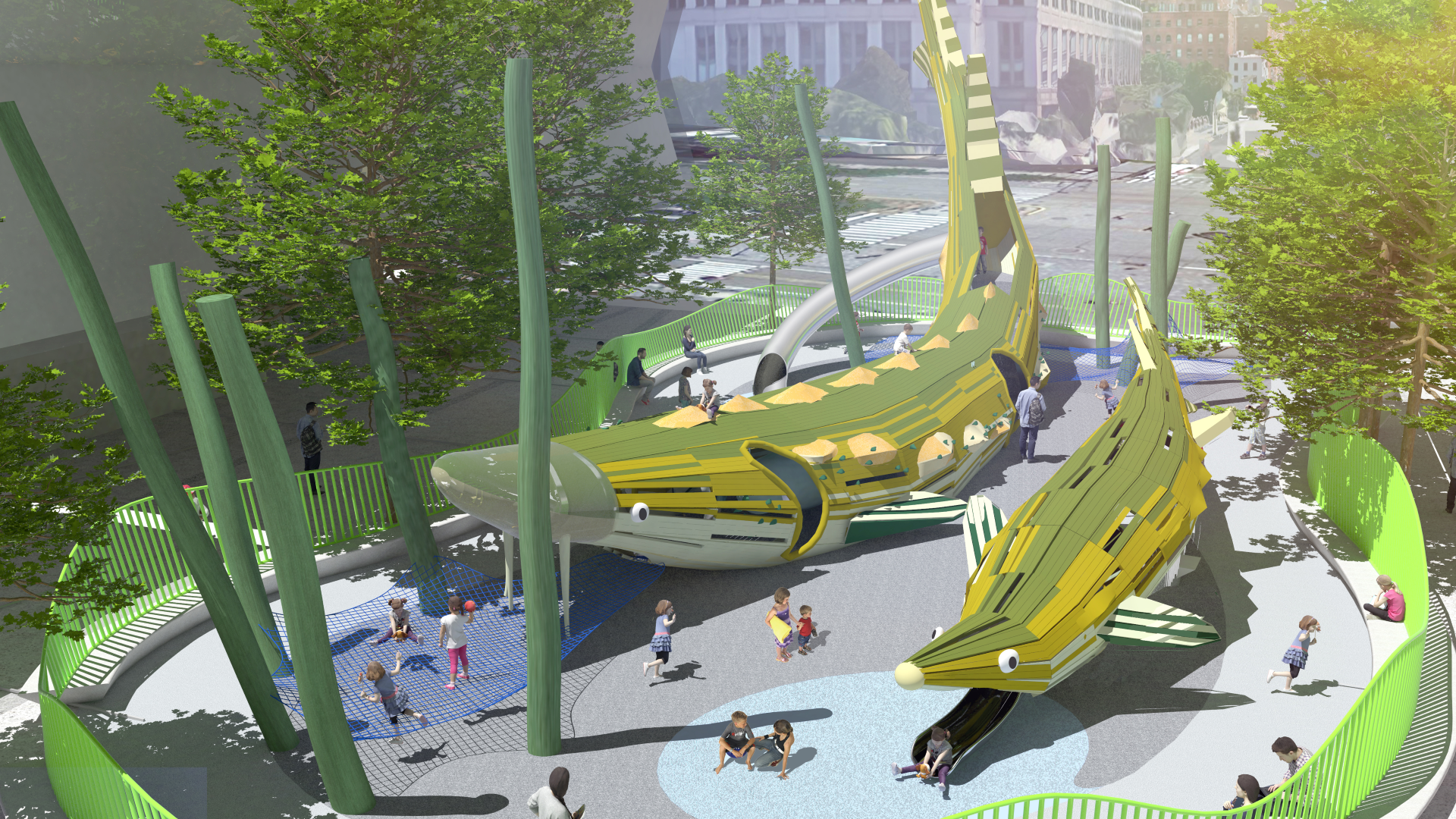 Science Playground rendering at Pier 26