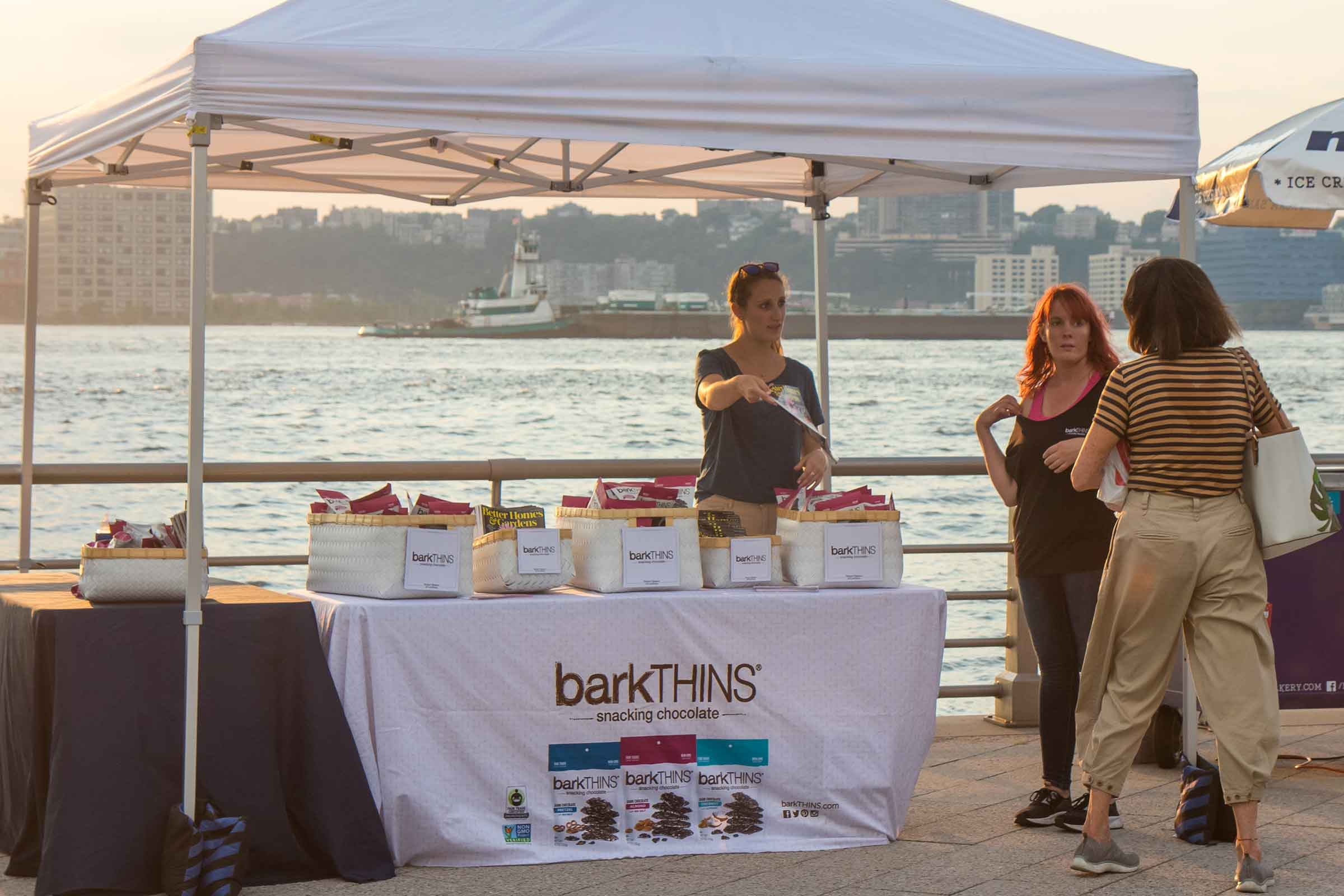 Bark Thins provides snacks as a sponsor for some of Hudson River Park's events