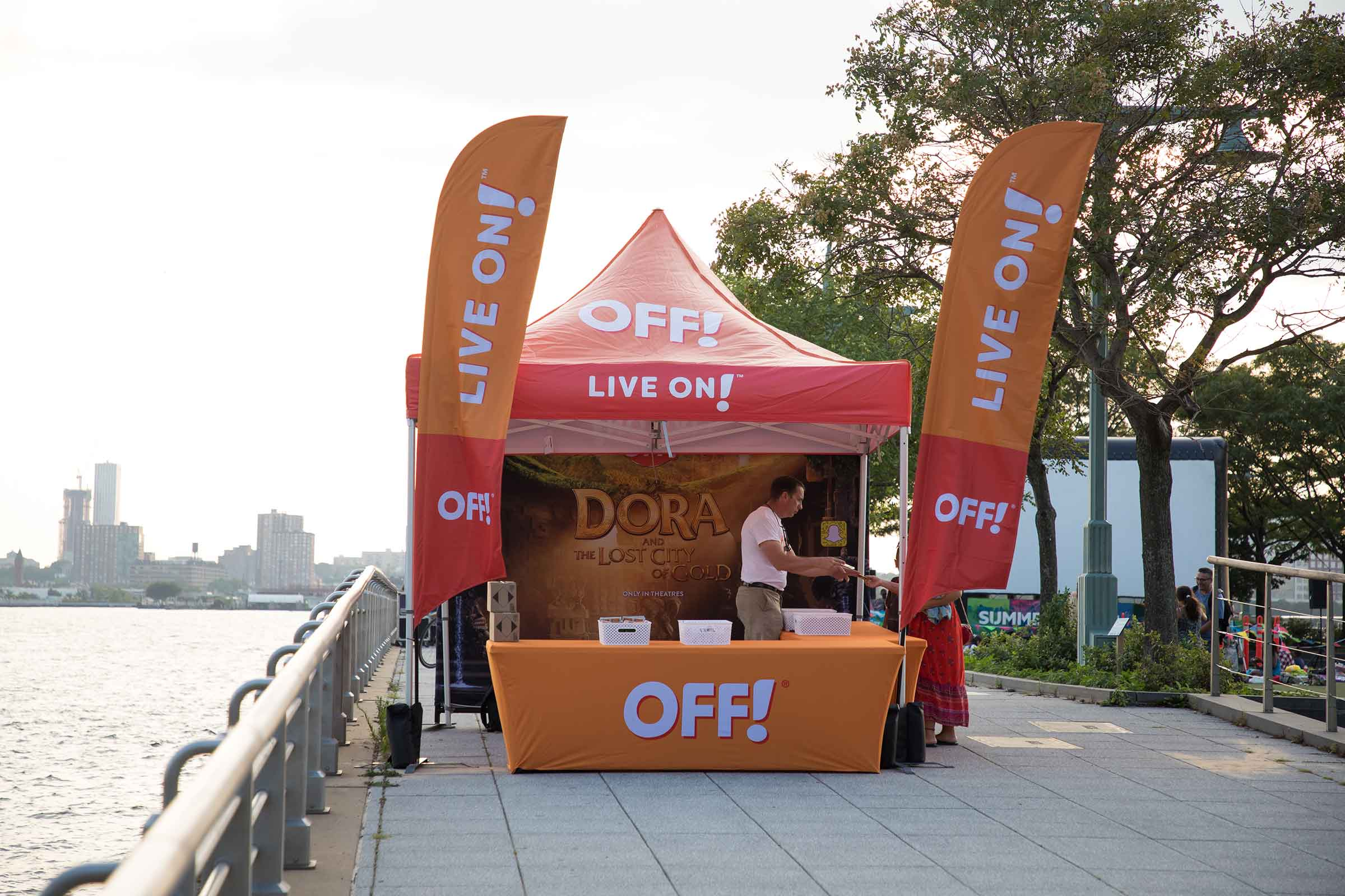 Off, provides some mosquito relief as a sponsor for Hudson River Park