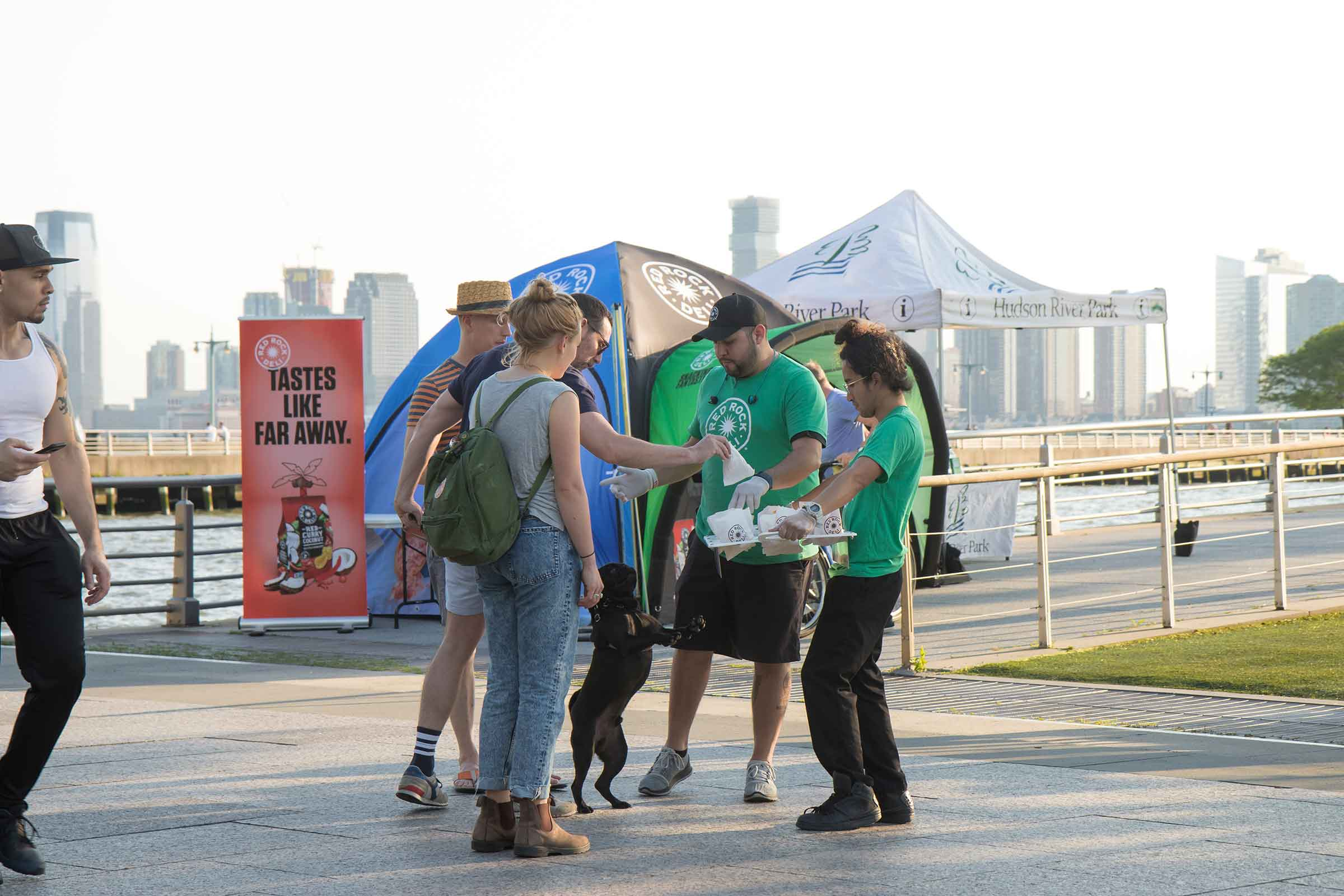Red Rock Deli provides snacks to park visitors at some of the events in Hudson River Park