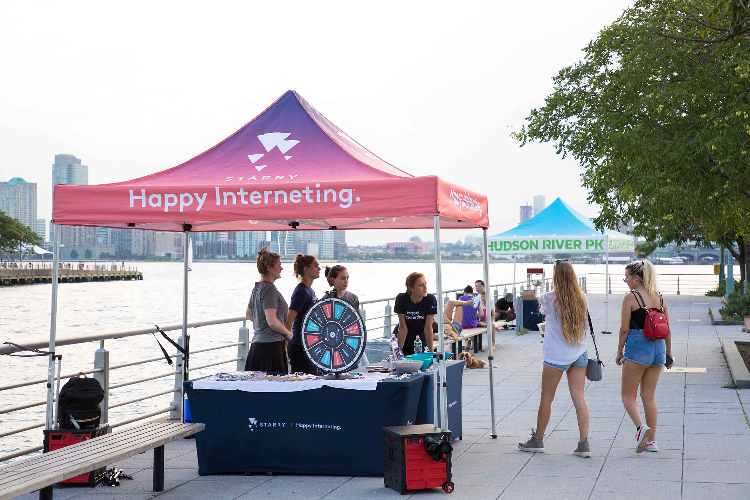Starry, a web provider is one of the many sponsors for Hudson River Park