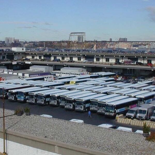 Before the transformation of Pier 40 it was parking for the MTA buses