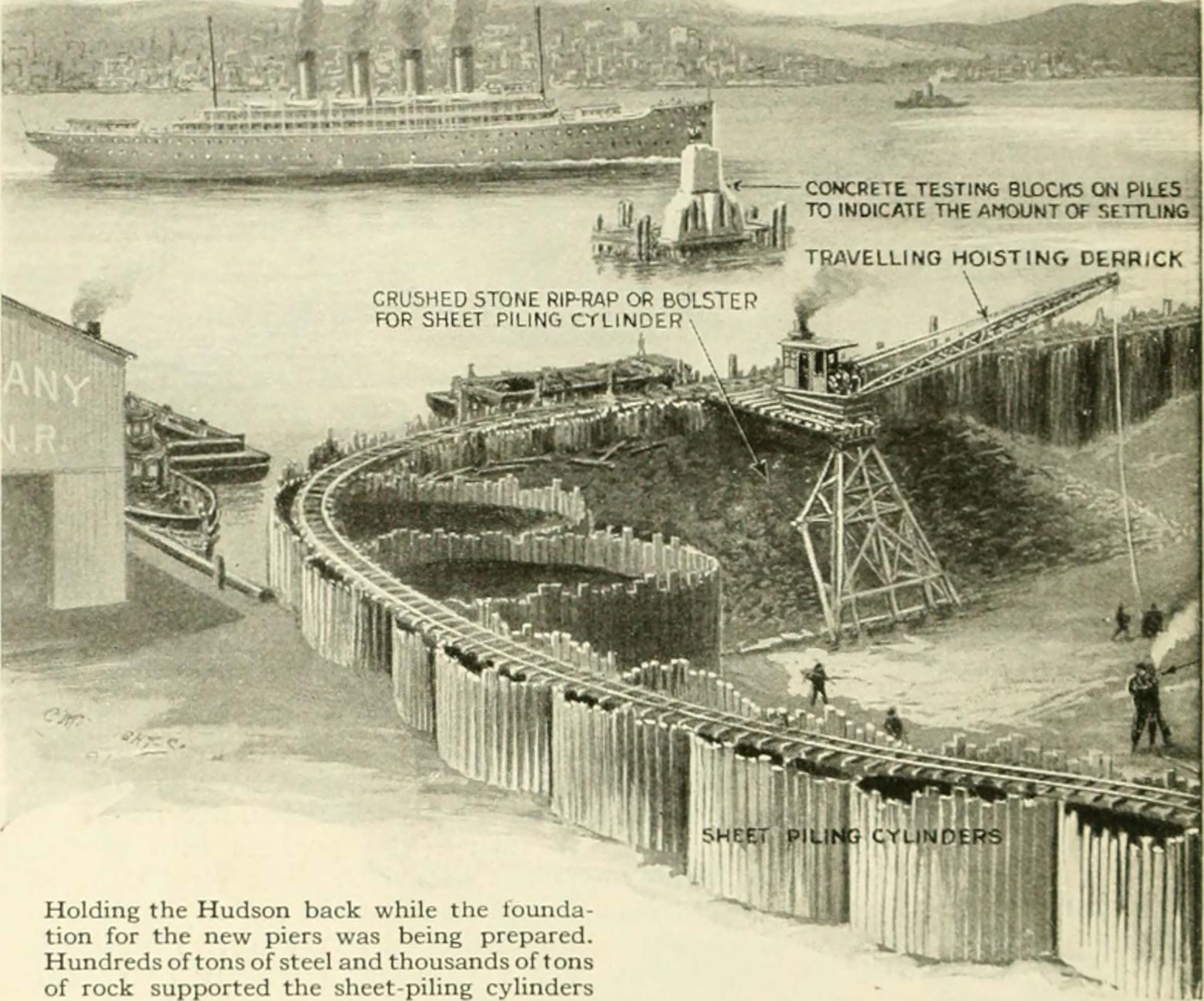 A drawing of what the bulkhead would look like to protect Manhattan