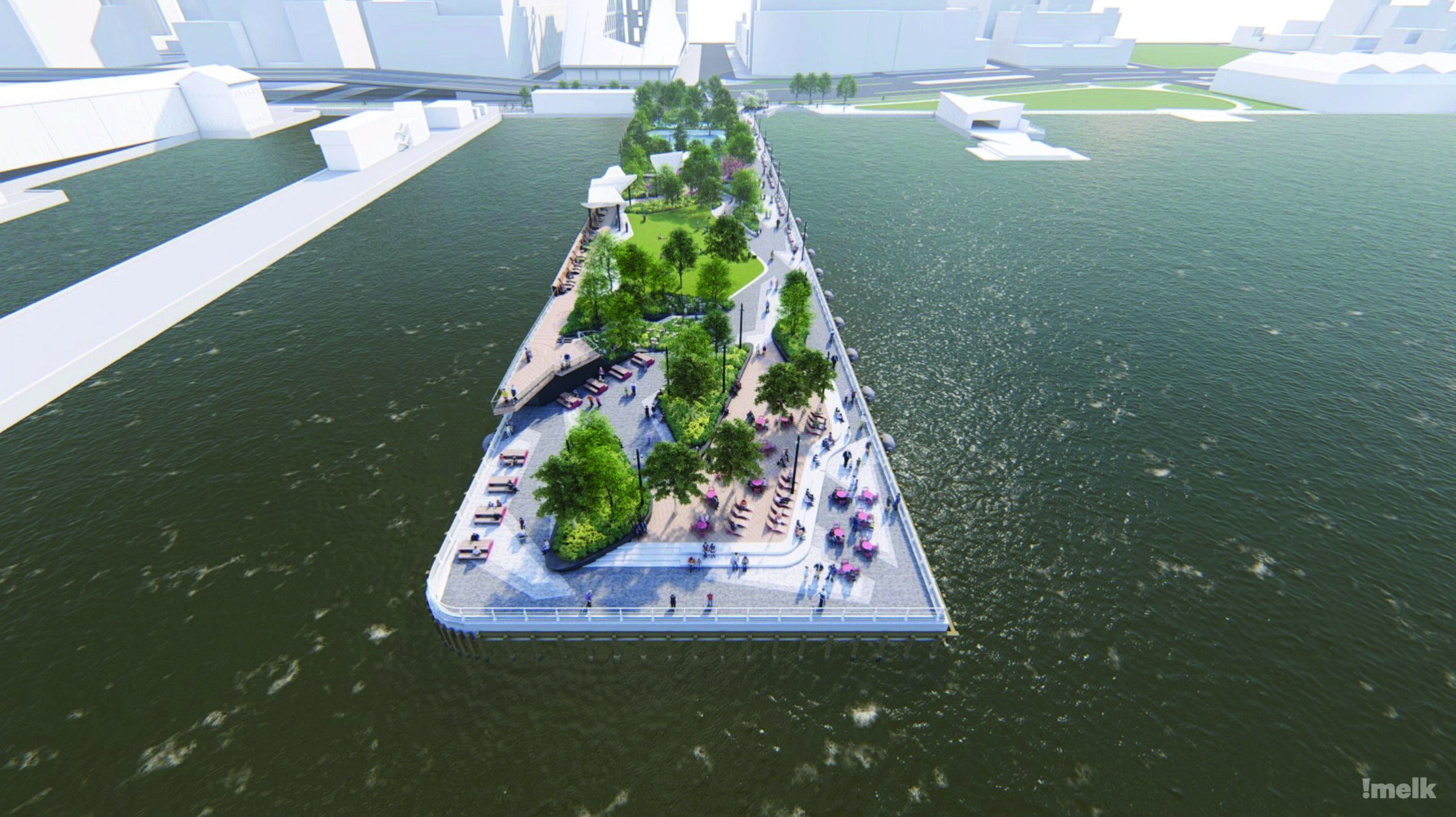Rendering shot of pier 97