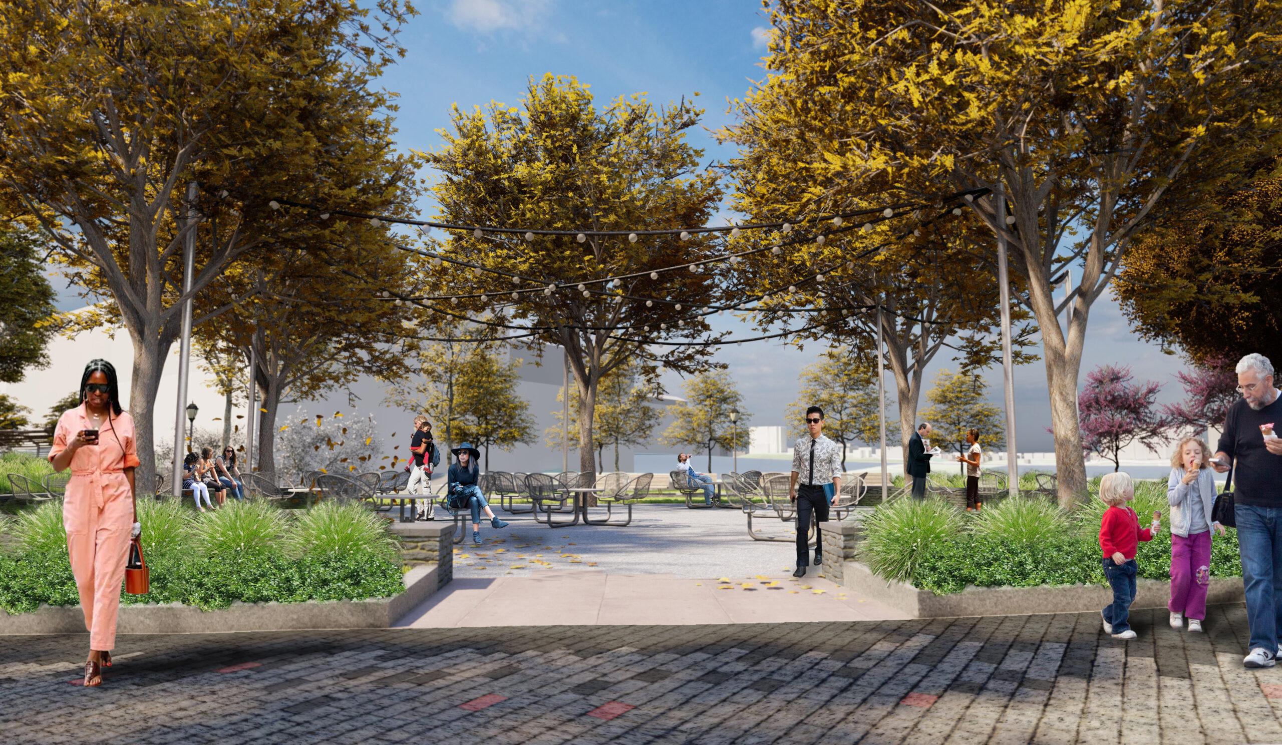 Chelsea Waterside Park picnic area