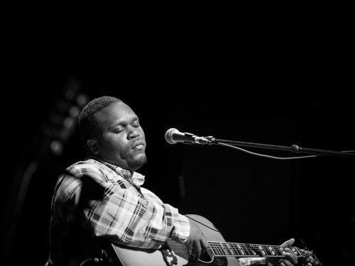 Jontavious Willis performs at Blues BBQ Festival at Hudson River Park