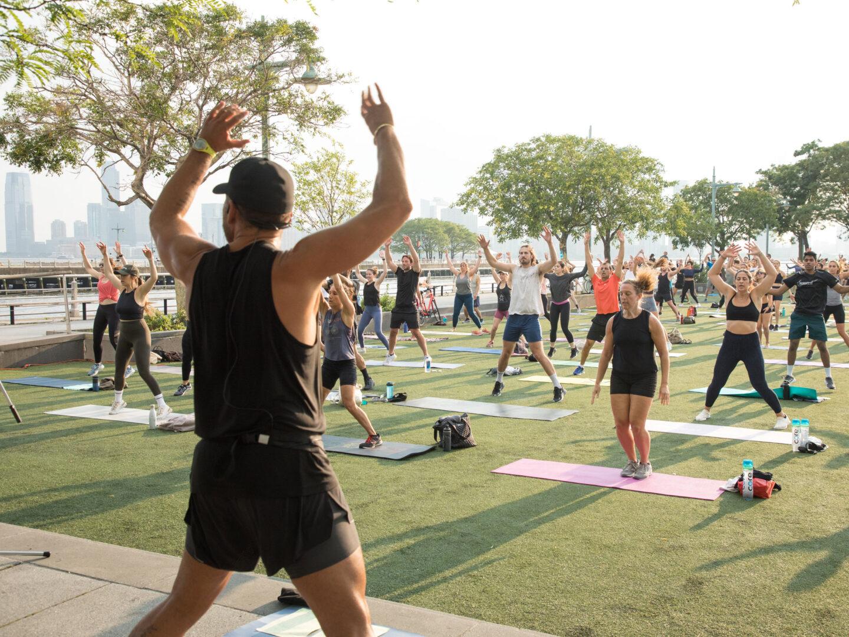 High intensity interval training led by lululemon at HRPK's Pier 46