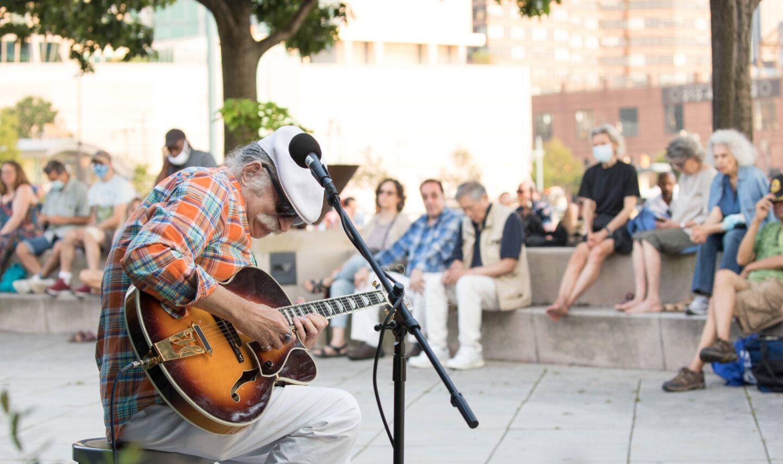 Steve Blum of Steve Blum and the Molecular Jazz Quartet headshot Hudson River Park Jazz at Pier 84