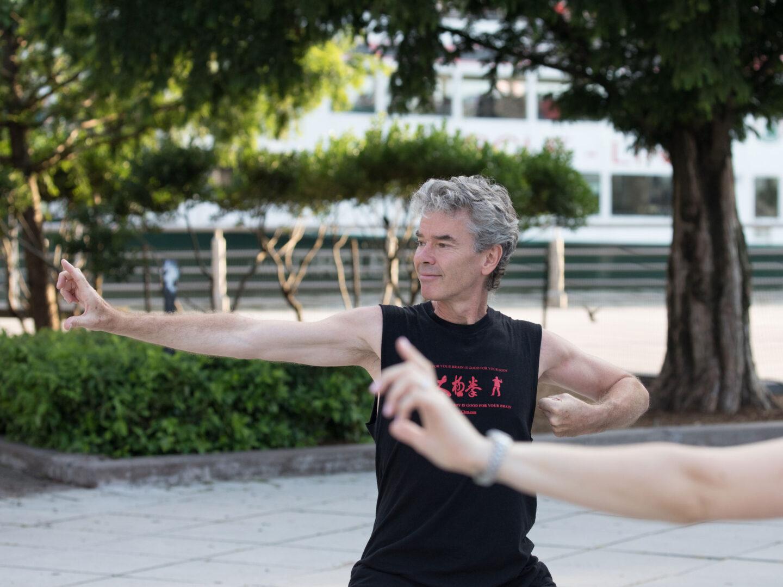 Tai Chi lesson at HRPK's Pier 84
