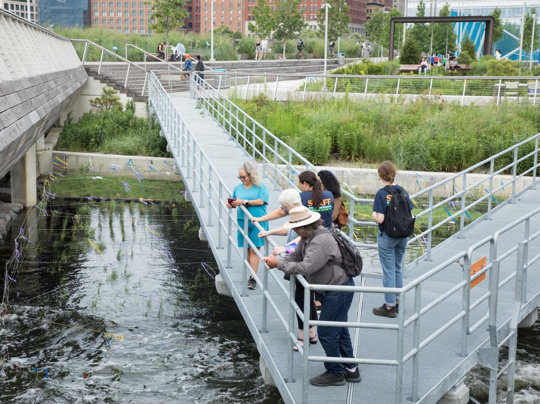 Hudson River Park Tide Deck tour at Pier 26